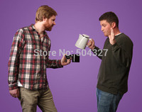Wholesale Piece Pistol Grip Cups Gun Handle Cup Ceramic Mug Black White U Choose