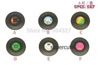 vinyl record - Pieces Sets Spinning Hat Retro Vinyl Record Drinks Coasters Vinyl Coaster Cup Mat
