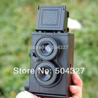Wholesale Set DIY Adoult LOMO Camera Science Vo1 Twin Lens Reflex TLR Camera Holga
