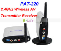 Wholesale PAT m GHz Wireless A V Transmitter Receiver Audio Video Sender with IR Signal Extension Wire for TV Set box DVD IPTV