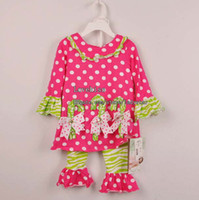 Wholesale Christmas Girl Dress Children Set Kids Suit Outfits Children Clothes Kids Clothing Girls Outfits Spring Autumn Shirt Dress Leggings Pants