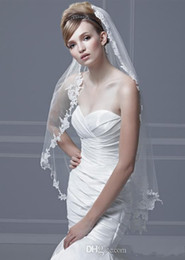 Wholesale Hot Sale Bridal Veils Soft Tulle Wedding Veil Pleated with vintage lace Comb White Ivory with Any Organza Color Bridal Mantilla