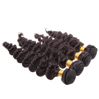 Wholesale Promotion bundles A inch Unprocessed Hair Deep Wave Curly Wefts Brazilian Malaysian Peruvian Indian Virgin Human Hair Weave