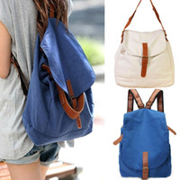 Wholesale S5Q Womens Canvas Rucksack Travel Bag Backpack Satchel Ladies Vintage Bookbag AAADVB