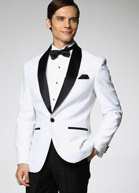Selling White Mens Suits Shawl Lapel Mens Wedding Suits Slim Fit