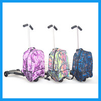 Wholesale 19 inch universal wheel board chassis suitcase trolley luggage bag impact strong aluminum frame kids scooter suitcase luggage with scooter