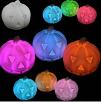 Wholesale colorfull Romantic color changing Pumpkin LED Night light Candle Lamp Party Halloween Decor Frozen A856