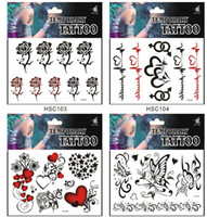 Wholesale Waterproof Body Tattoo Sticker Art Party Festival Waterproof Tattoo Stickers Sexy Lady Men Notes Temporary Tattoo Stickers M1651