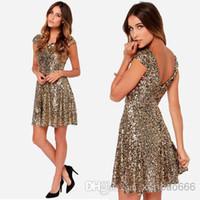 Cheap Sleeveless Sexy Dresses Best Gold Sequin