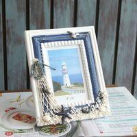 wood photo frame - 6inches Photo Frame Wood Porta Retrato Framework Handmake Mediterranean Style Decoration