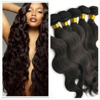 Wholesale 50 off brazilian hair bundles unprocessed human hair weaves body wave natural color virgin hair extensions
