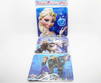 Wholesale 50pcs Romance snow cartoon puzzle environmental thicker paper trade selling three contiguous frozen HL
