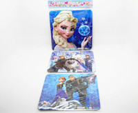 Wholesale 100pcs Romance snow cartoon puzzle environmental thicker paper trade selling three contiguous frozen HL