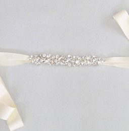 Wholesale Simple Bridal Swarovski Crystal Wedding Sash Beads Wedding Belt Bridal Accessories Handmade Custom Made Fastness Crystal Leaves Belts