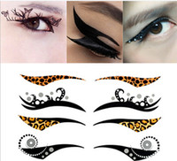 Wholesale Instant Eye Shadow Sticker Colourful Body Art Party Eye Liner Temporary Tattoo Stickers M1654