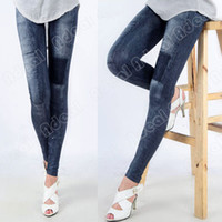 stretch jeans - Women Fashion Jeggings Stretch Skinny Leggings Tights Leg wear Pencil Pants Casual Jeans