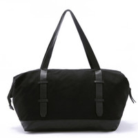 leather weekend bags - Cheap Black Canvas Leather Shoulder Bag Travel Bags Fashion Women s Casual Weekend Bags Tote Bag SLD0902