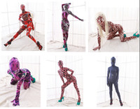 Wholesale New Arrival Full Body Pattern Lycra Spandex Fetish Zentai Suits Halloween Party Costumes