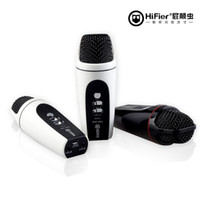 Wholesale Hifier Singing Song Microphone For iphone xiaomi for Android Computer Recording Special Condenser Microphone mobile phone KTV speaker