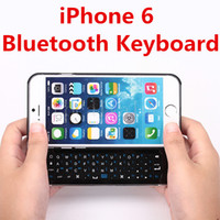 Wholesale iPhone Wireless Bluetooth Keyboard Ultra Thin Hard Plastic Slide Out Cover Case Cell Phone Keyboards With Backlight