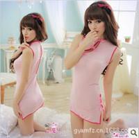 Wholesale sexy underwearsexy lingerieFactory sexy lingerie pink satin halter dress uniforms direct generation of fat gamesexy underwear