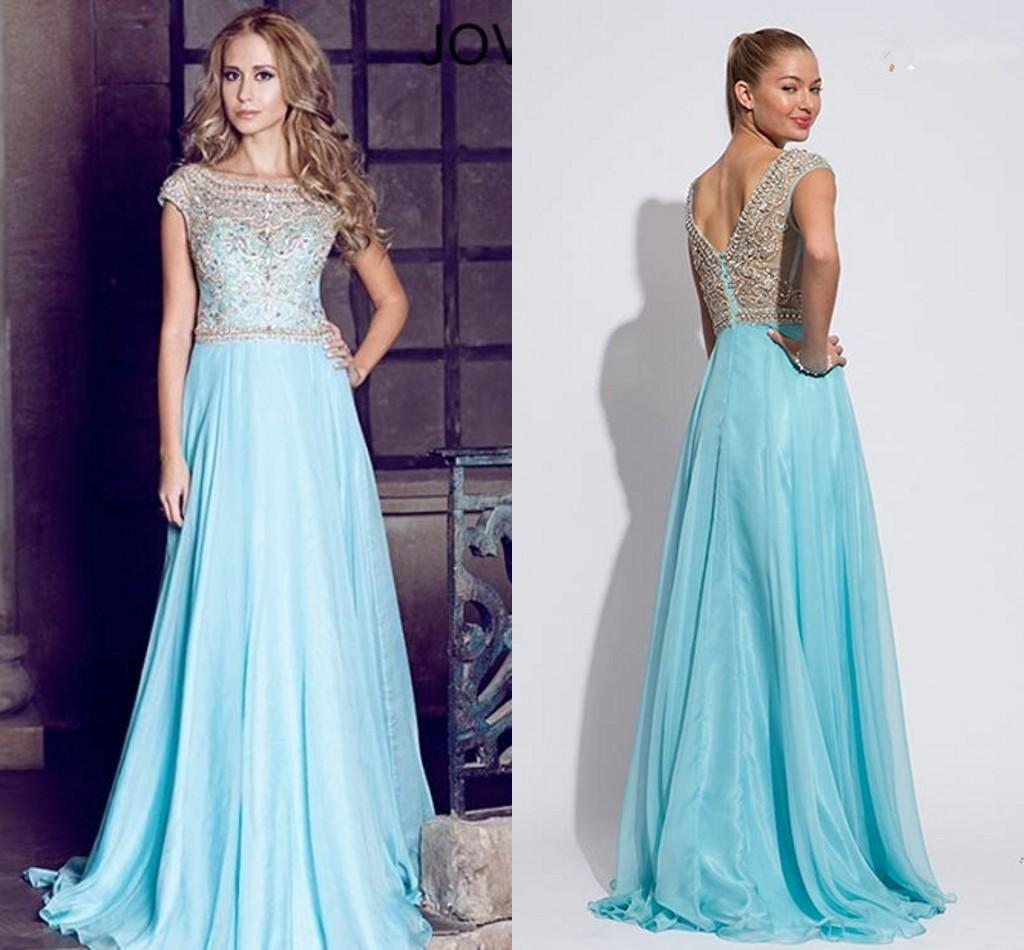 Light Blue And Gold Prom Dresses - Prom Dresses 2018