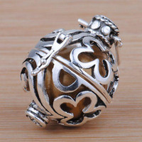Wholesale A2202 Nice fashion Mexico Ball Sterling Silver Angel Caller Harmony Ball With Moonstone Pendant