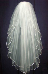 Cheapest Free Ship Real Sample In Stock White Ivory Two Layers Short Wedding Veils For Wedding Dresses Bridal Gowns Bridal Accessories
