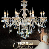 Wholesale Top Luxury Arms Home Lustres de Cristal Chandelier Sale with K9 Crystal PCCDC D750mm H650mm hot sell