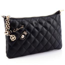 Chain bag women s handbag à vendre-Vente en gros-Nouvelle Été Femmes Jour Embrayage Petite Plaid Chaîne HandBag Mode Sacs Mini Noir Blanc Couleur européenne et américaine Detailin
