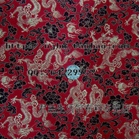 Cheap Mahogany furniture, Chinese style brocade fabric cushion sofa fabric purplish red dragon costume jacket J119