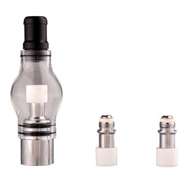 Dry Herb Vaporizer M6 Atomizer Glass Tank Bulb Clearomizer Wax Solid Smoke Oil Atomizer set For eGo Electronic Cigarette good (0203045)