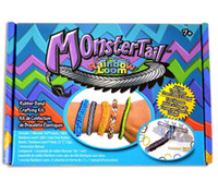 Cheap Christmas sale Monster Tail Mini Loom Bracelet Rubber Band Crafting Kit (600bands+1 Mini Hook+ 1 weavers+24S clips) for Kids DIY