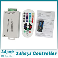 Wholesale 24keys led strip remote controller DC12V for led strip light rgb controller