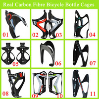 Wholesale 2014 Newest Bianchi Look And Elite Road Carbon Fibre Bicycle Bottle Cages Black Special Carbon Lightweight Bottle Cages Bike Accessories