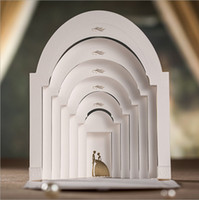 Customizable 3D White Groom and Bride in Palace Wedding Invi...