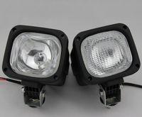 achat en gros de xénon cacha feux de tracteur-HID Xenon 55W HID xenon Light conduite lumière Spot Flood Light Offroad lampe de travail large faisceau d'inondation imperméable à l'eau remorque tracteur Jeep ampoules