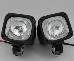 2017 wholesale hid HID Xenon 55W HID xenon Work Light Driving Light Spot Flood Light Offroad Lamp wide Flood Beam Waterproof trailer tractor Jeep Bulbs cheap wholesale hid