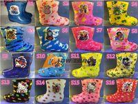 Rainboots kids rain boots - EMS Kids frozen Rain Boots Rainboots Waterproof Rain Shoes Galoshes Antiskid Girls Boys Cartoon Watershoe Shoes styles