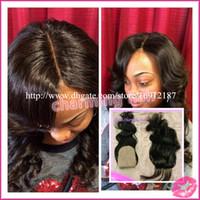 Cheap Brazilian Hair silk base closure Best Natural Color Body Wave silk base top closure