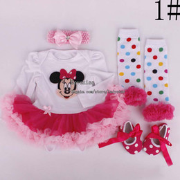 Wholesale Children Clothes Kids Clothing Newborn Outfits Children Set Kids Suit Outfits Girl Dress Baby Rompers Infant Shoes Lace Sock Girl Headbands