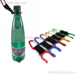 Promotion bouteilles d'eau mousqueton 50 x camping Mousqueton bouteille d'eau boucle crochet support clip sangle pour camping randonnée de survie outils de voyage