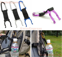 Wholesale 100pcs Outdoor Camping Hiking Traveling Water Bottle clip Carabiner Holder with Buckle Hook survival tools equipment