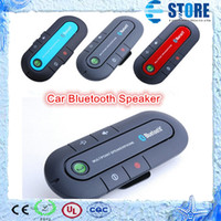 Wholesale 2015 New Hot Sale Hands free Bluetooth Car Kit Universal Headset Bluetooth Speaker for All Smartphones DHL Free Fast ship