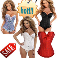 Wholesale Sexy women Satin Boned Lace up overbust Corsets waist training corset Body Shapewear Bustier cincher Embroidered corselet