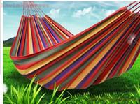 Wholesale 1x Portable Canva Hammock Swing Hang Sleeping Bed Outdoor Camp Travel Beach