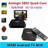 Quad Core mini tv - MXIII K Amlogic S802 Android TV Box Stick Smart GB GB Bluetooth Mini PC Kodi14 Kodi15 GHz Octa Quad Core