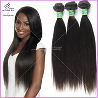 Wholesale Human Hair Products Brazilian Virgin Hair Straight Brazilian Virgin Hair Cheap Thick Human Hair Weave Straight Natural Black Hair