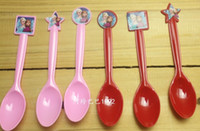 Wholesale Frozen theme Anna Elsa plastic fork spoon cutlery tableware baby birthday party festive decoration A one time environmental party supplies