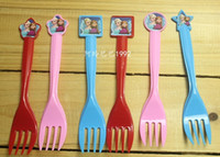 Wholesale New Frozen Anna Elsa plastic fork spoon cutlery tableware baby birthday party festive decoration A one time environmental party supplies